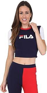 223a8a9fbbd Fila Women Dora Iridescent   flecce Mix Crop Hoody 684262 A005 ...