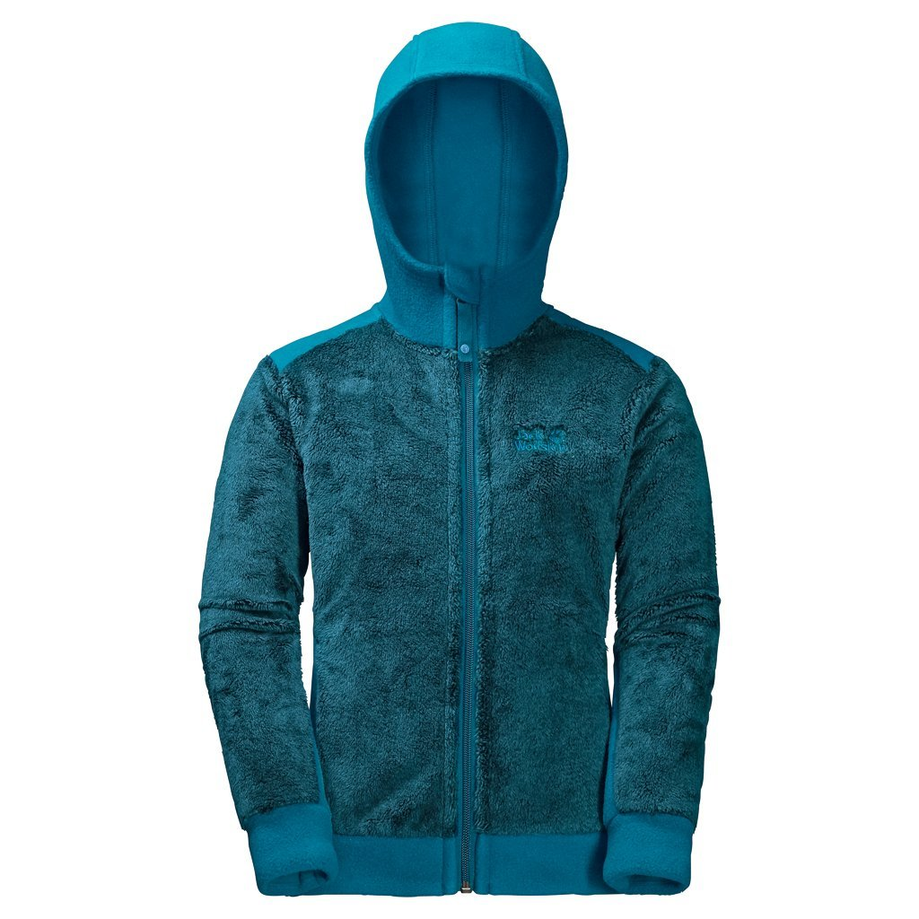 Jack Wolfskin Girl's G Moose Fleece Sweater, Dark Turquoise, Size 116 (5-6 Years)