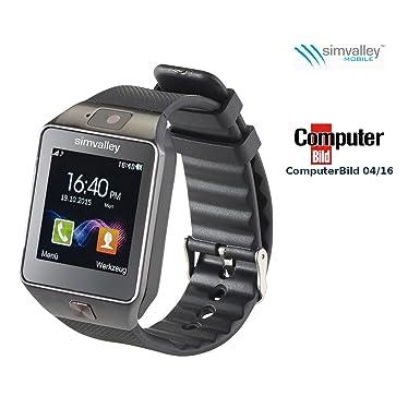 Simvalley Mobile 1,5-pulgada-teléfono-reloj Smartwatch/PW-430