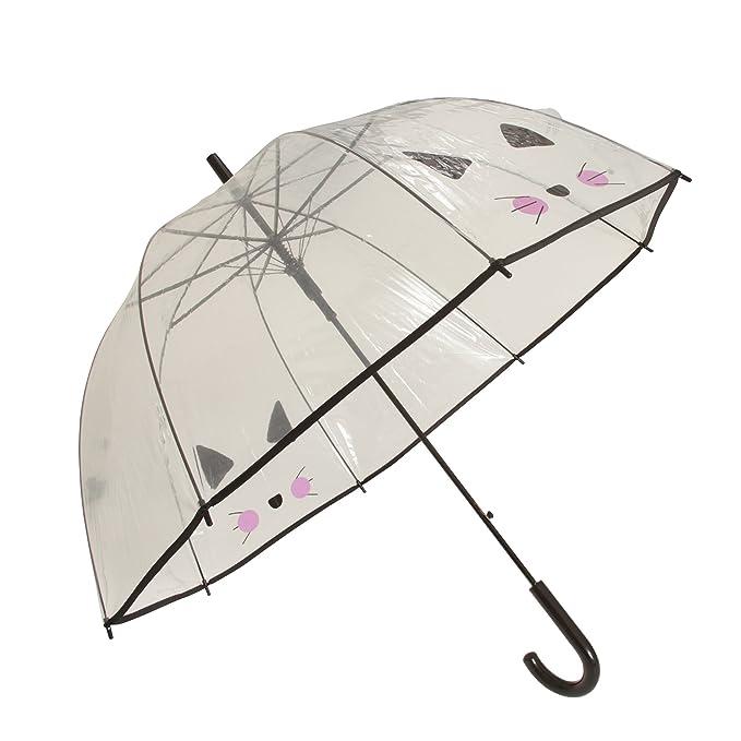 X-brella - Paraguas transparente con gato (Talla Única/Gato Selfie): Amazon.es: Ropa y accesorios