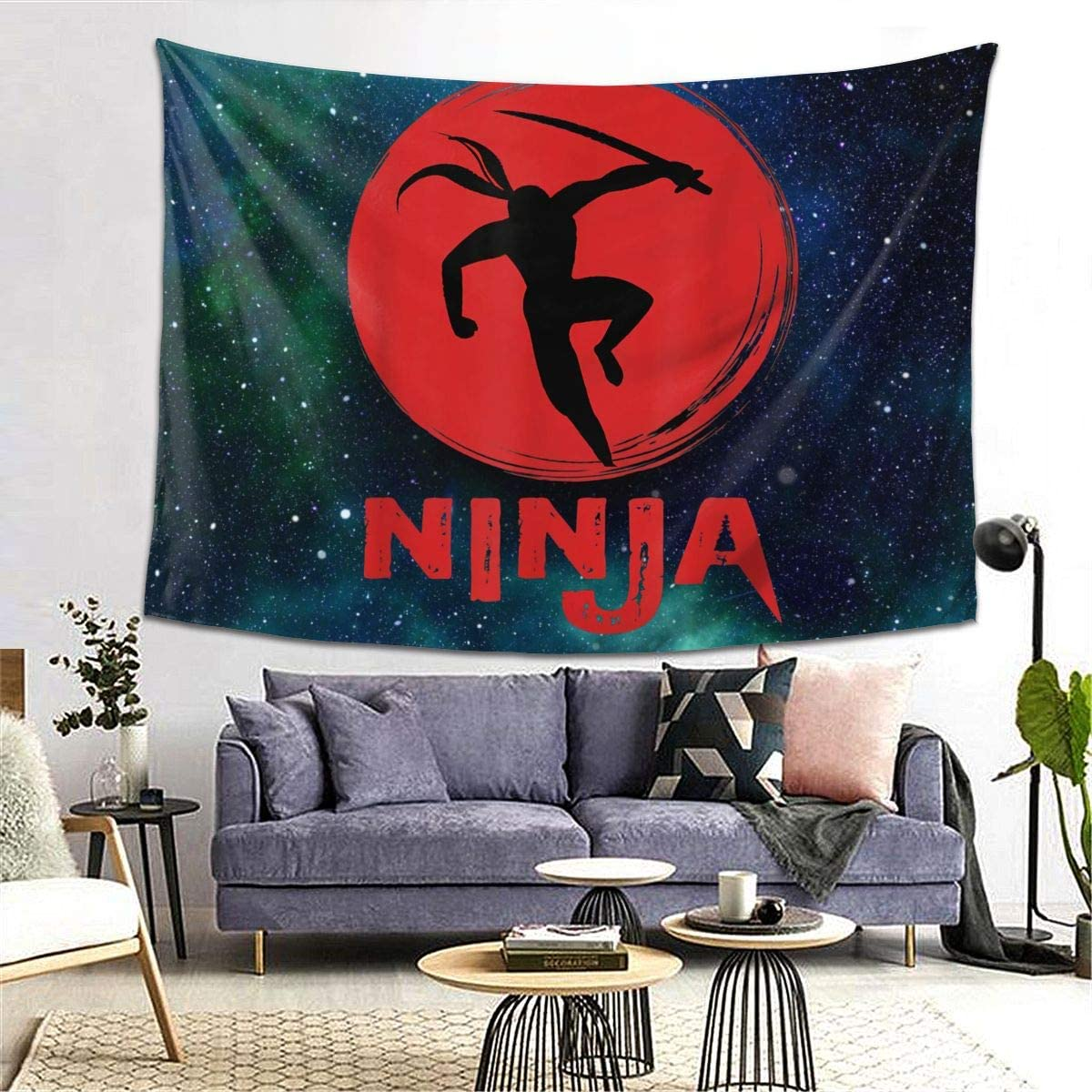 Ninja in Training - Cool Ninja Warrior Tapestry Wall Hanging Tapestry for Room 8060inch