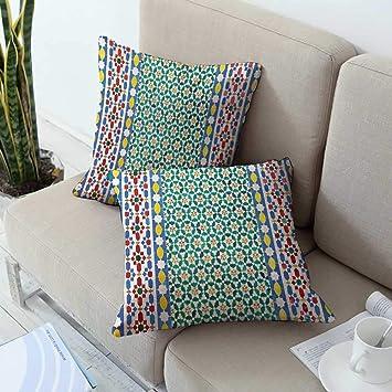 Amazon.com: Fundas de almohada con cremallera marroquí ...