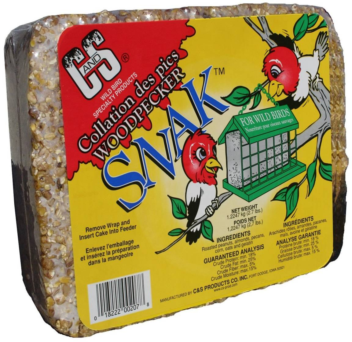 C&S Products CS06207 Woodpecker Snak Woodpecker Snack