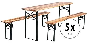 5 conjuntos de bancos y mesa plegable para carpas y exterior ...