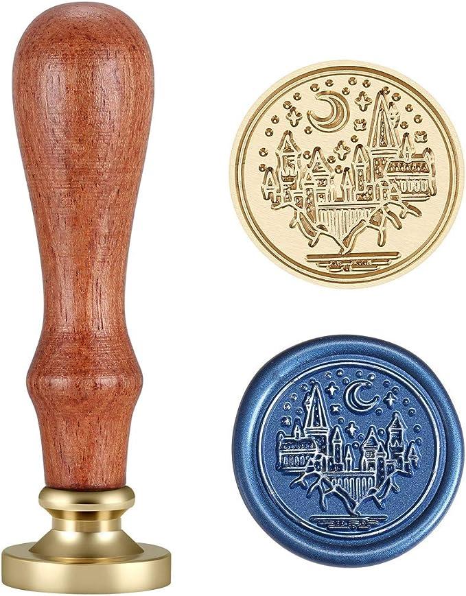 YO-HAPPY Siegelstempel 500 Muster Wachs Siegelstempel Retro Holzstempel Kits Kupfer Kopf-Wal-Serie