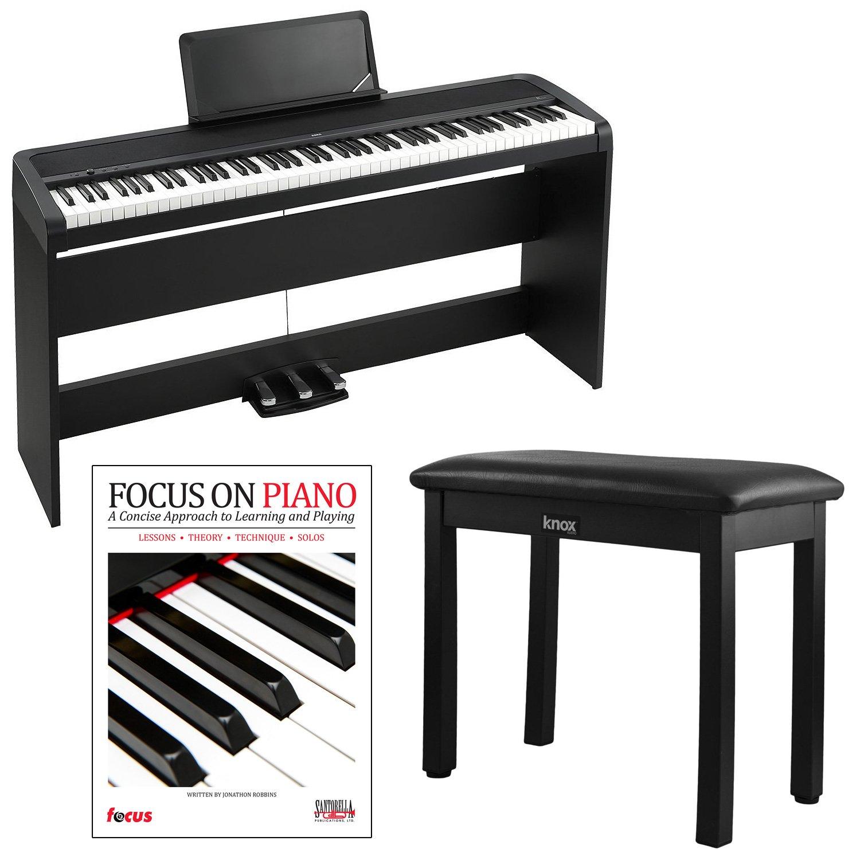 korg b1sp 88 weighted key digital piano w stand three