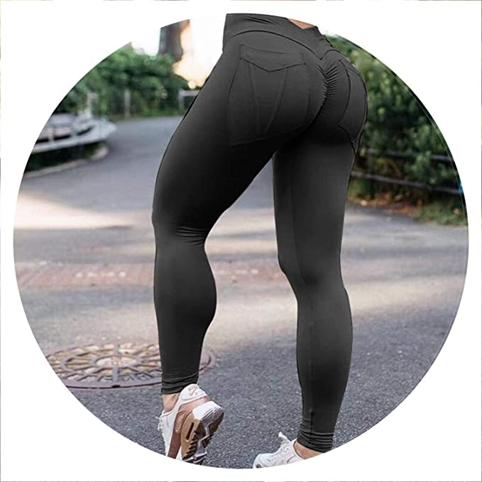 Amazon.com: Fitness Leggings High Waist Push Up Leggings ...
