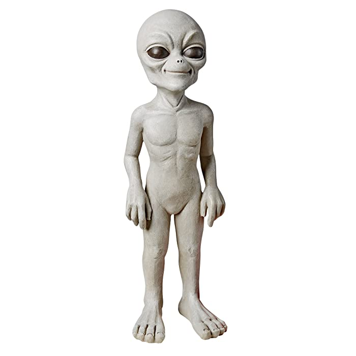 Design Toscano The Out-of-This-World Alien Extra Terrestrial Statue: Small