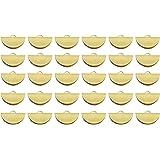 JCBIZ 30pcs Gold 20mm Semi Circle Crimp End Clip Clamp for DIY Jewelry Making