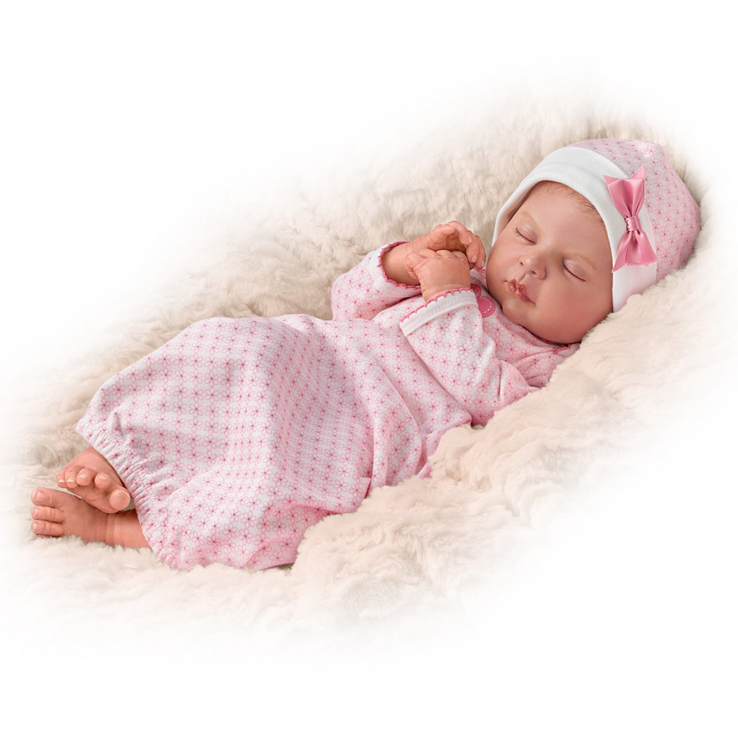 Sweet Dreams, Serenity Breathes TrueTouch Silicone with Hand-Rooted Hair - Lifelike, Realistic Newborn Baby Doll 18-inches by The Ashton-Drake Galleries by The Ashton-Drake Galleries