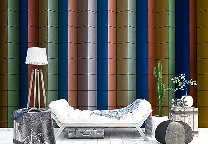 Papel tapiz fotomural piastrelle quadrate righe angoli parete