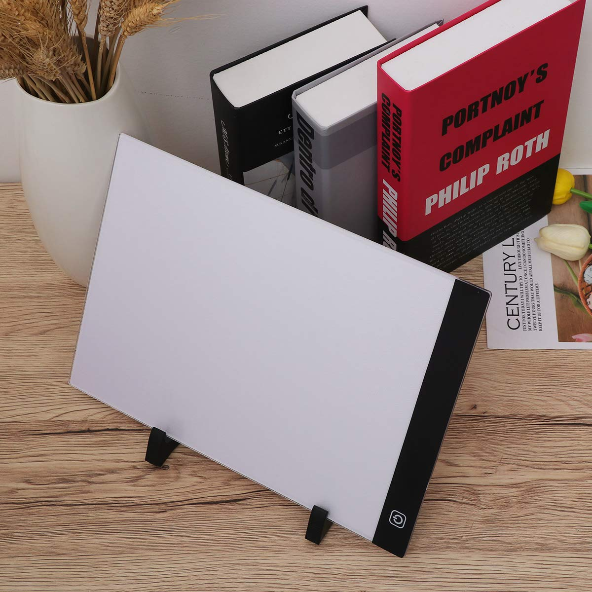 STOBOK Light Drawing Board 1 Set A4 LED Light Box Drawing Sketch Tablet Tracking Artist Backing Plate Diamond Painting Tools for Desktop Table Easel Craft Workstation by STOBOK (Image #7)