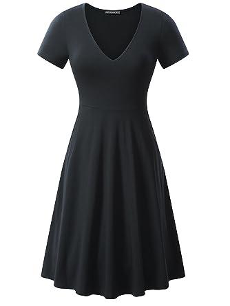 6bb725dcd69d FENSACE All Black Dress
