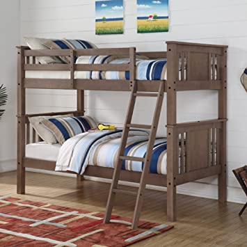 Amazon Donco Princeton Twin over Twin Bunk Bed Kitchen