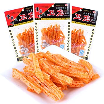 Set of 30 packs Chinese Special Spicy Snack Food Wei Long La Tiao Weilong  Latiao 28g*30 Pack