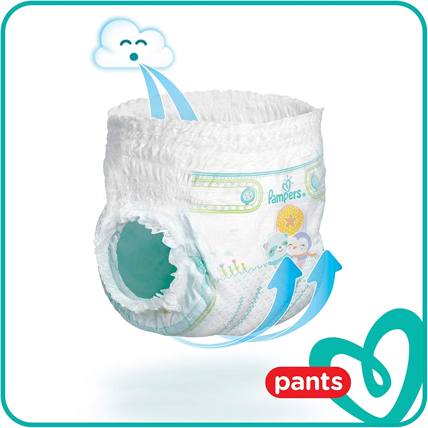 - Mega Pack Couches-culottes Taille 6 x64 culottes Pampers +15 kg Baby Dry Pants