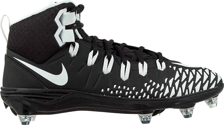 Nike Force Savage Pro D Men's Football Cleats Black/White/Black/Black Size 9