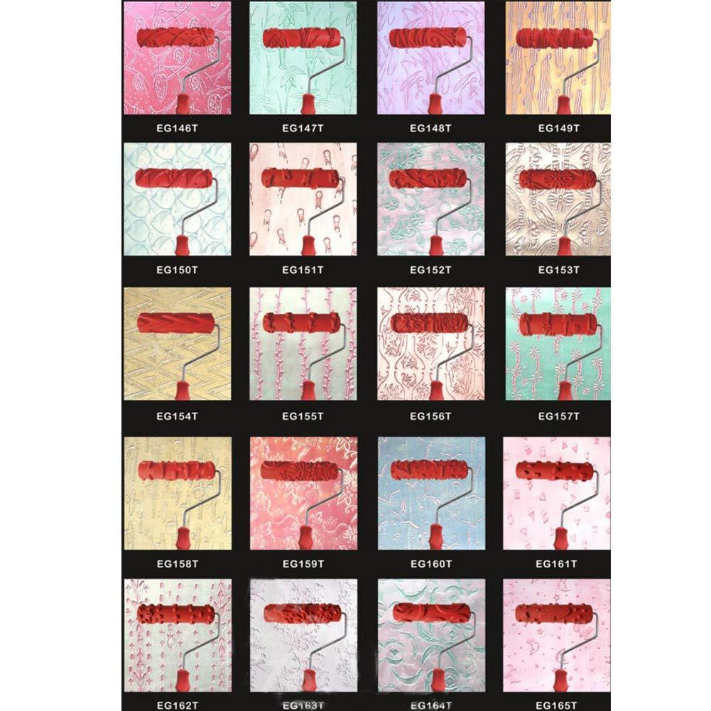 7 Rulli di gomma Texture decorativa Rifornimenti e strumenti per la pittura a rullo-A11