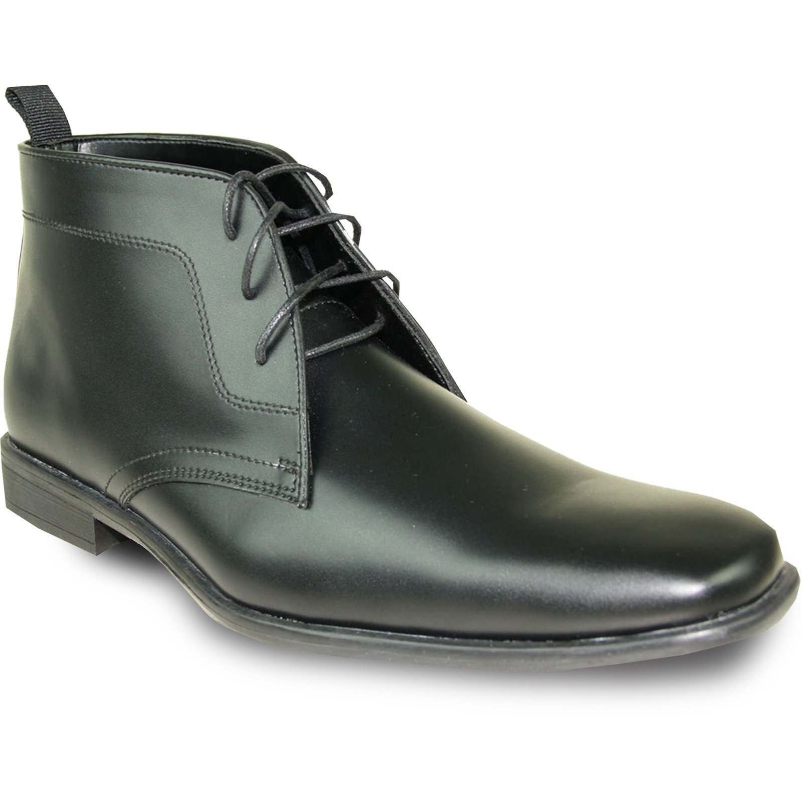 ALLURE MEN Dress Boot AL02 Fashion Tuxedo for Wedding, Prom and Formal Events with Wrinkle Free Material Black 20M
