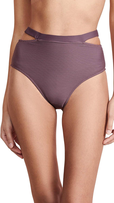 Vitamin A Women's Black BioRib High Waist Bikini Bottom