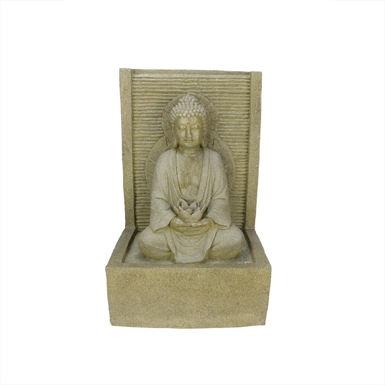Northlight LED Lighted Praying Buddha Water Fountain Outdoor Patio Garden Statue, 23''