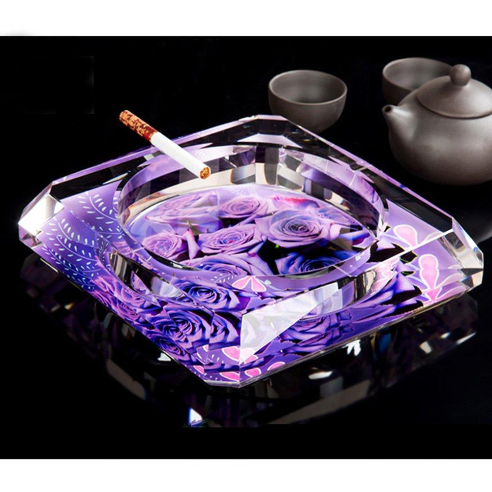 OSONA 高級 卓上灰皿 クリスタル ガラス 灰皿 アッシュトレイ おしゃれ灰皿 花柄 15cm B01HPXUO0A 15cm|花柄 花柄 15cm