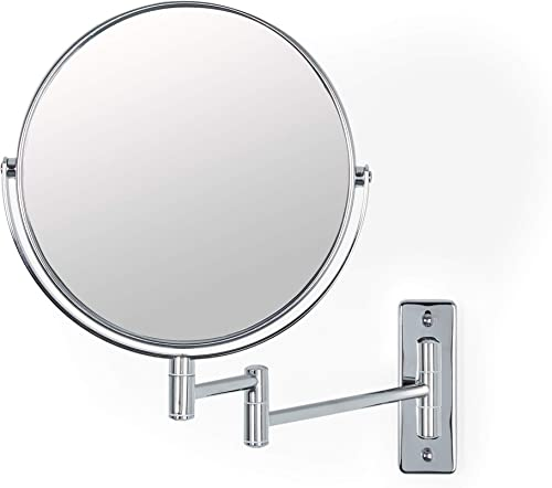Better Living Products Cosmo Wall Mount Mirror with Folding Arm, Chrome