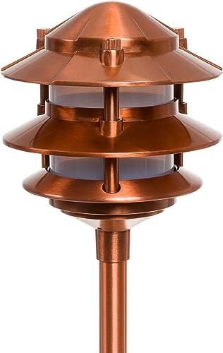 Paradise Laurentide Low Voltage 11W 12V 3 Tier Walklight, GL22764CI, Copper