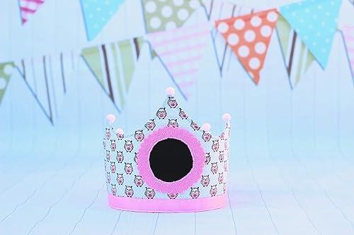 Pittitus corona niña para cumpleaños infantil con pizarra: Amazon ...