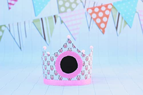 Pittitus corona niña para cumpleaños infantil con pizarra ...