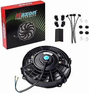 "Universal Slim Fan Push Pull Electric Radiator Cooling 12V 80W Mount Kit (Black, 7"")"