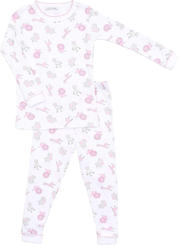 Magnolia Baby Baby Girl Safari Baby Long Sleeve Pajamas Pink