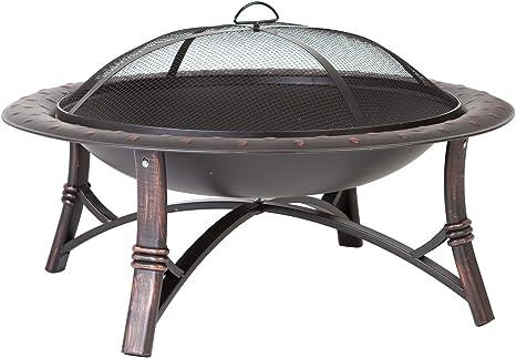 Fire Sense 60857 Roman Fire Pit Brushed Bronz