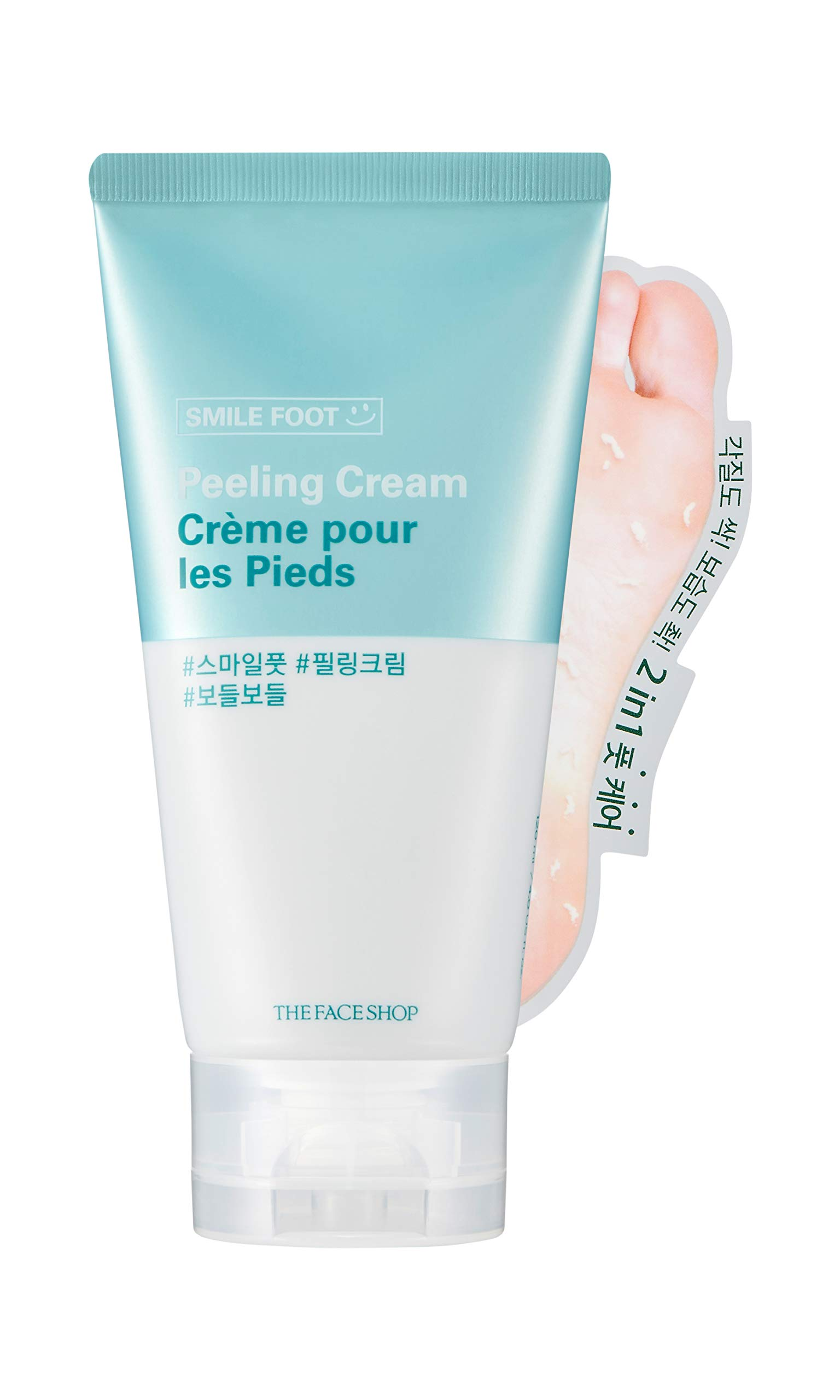 [THEFACESHOP] Smile Foot Peeling Mask, 2-In-1 Foot Care For All Skin Types by THEFACESHOP