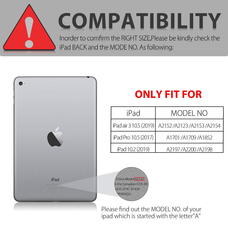 iPad Keyboard Case for iPad 10.2 2019-7th Generation iPad - iPad Pro 10.5(Air 3) - 7 Colors Backlight, Magnetically Detachable Wireless Keyboard - Folio Cover for New iPad 10.2\