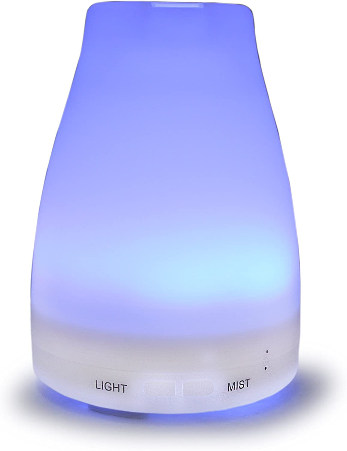 Sungwoo 100ml Aroma Essential Oil Diffuser Ultrasonic Cool Mist Humidifier with Color LED Light Changing and Adjustable Mist Mode