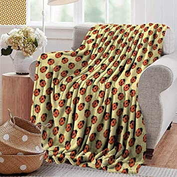 Tremendous Amazon Com Ultra Soft Flannel Blanketladybugs Cute Bugs Onthecornerstone Fun Painted Chair Ideas Images Onthecornerstoneorg