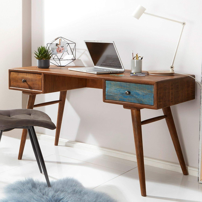 KS-Furniture WL5.590 - Escritorio (140 x 78 x 60 cm, Madera Maciza ...