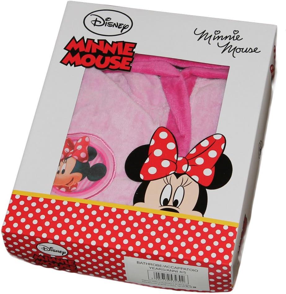 Novia Accappatoio Minnie TOPOLINA Disney Bambina 8//9 Anni con Cappuccio Originale
