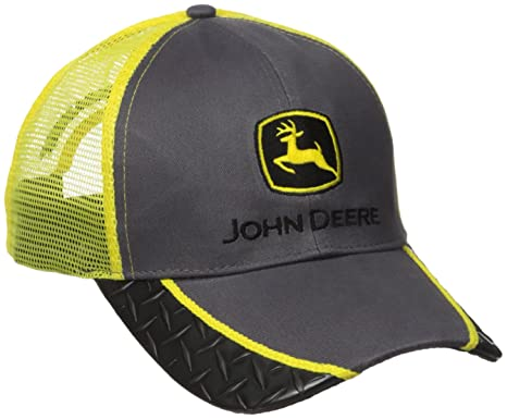 John Deere Construction Logo Diamond Plate Baseball Hat - One-Size - Men s 1da4178d2da