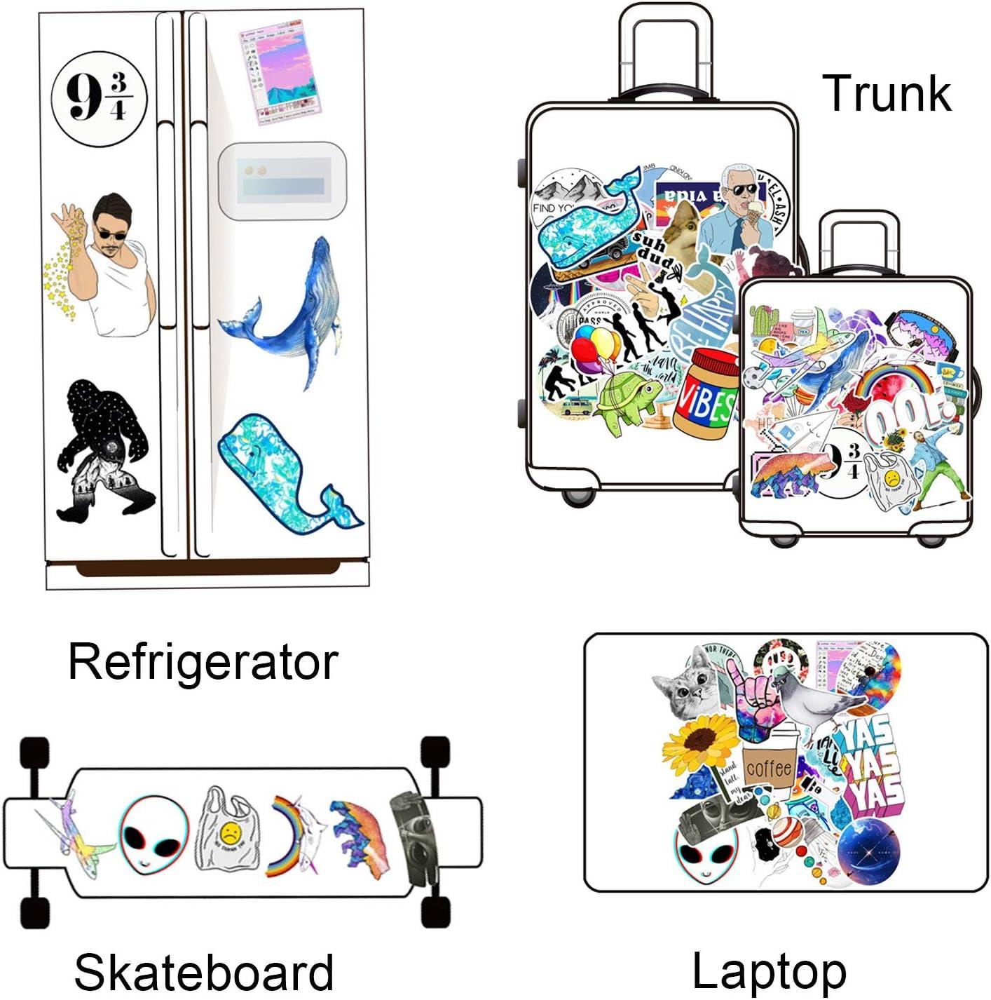 Stark klebrig Auto Aufkleber Dekorative Sticker Kinder Aufkleber Pelwope 153 PCS Laptop Sticker Wasserdicht PVC Stickers f/ür MacBook//Motorrad//Fahrrad//Skateboard//Snowboard//Gep/äck
