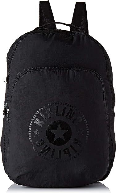 Kipling SEOUL PACKABLE - Mochila escolar, 22.5 liters, Negro (BLACK LIGHT): Amazon.es: Zapatos y complementos
