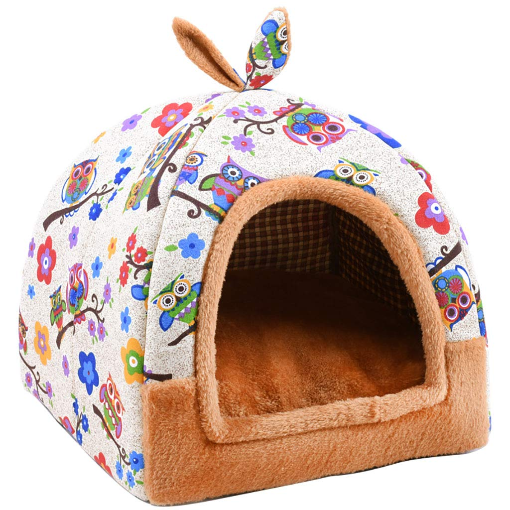 B 424243 B 424243 Pet house Cat nest kennel Small dog Closed type pet nest Pet mat Pet bed Warm cosy Two usage Four seasons available (color   B, Size   42  42  43)