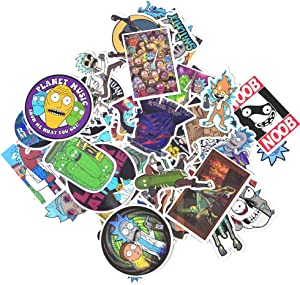 DREAM LEVEL Stickers [50/104/110 PCS], Waterproof Vinyl Stickers for Laptop, Car, Bicycle, Helmet, Skateboard, Luggage No-Duplicate Stickers Per Set(A & B). (R&M50B)