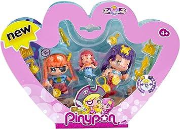 Pinypon - Pack de 3 Figuras Pirata y Sirenitas (Famosa ... - Amazon.es