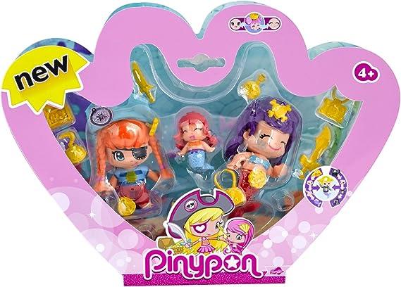 Amazon.es: Pinypon - Pack de 3 Figuras Pirata y Sirenitas (Famosa 700013366): Juguetes y juegos