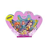 Pinypon - 700013366 - Mini Poupée - Coffret 3 Figurines Pirate et Sirenes