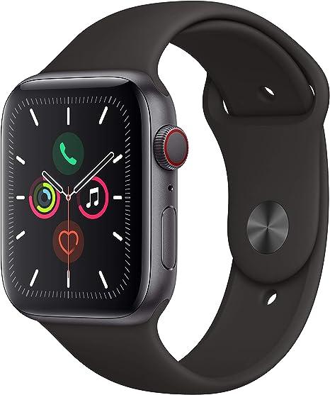 Comprar Apple Watch Series 5 (GPS+Cellular, 44 mm) Aluminio en Gris Espacial - Correa Deportiva Negro