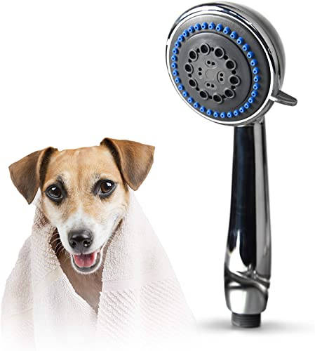 SmarterFresh Pet Faucet Sprayer Set, Pet Bath Spray Dog Shower for Home Dog Washing Station – Hand Shower Spray Faucet Attachment with Hose for Sink Faucets Only