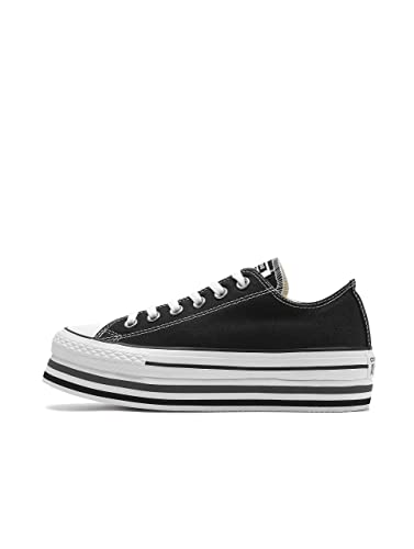 b334598265eb40 Converse Women Sneakers Chuck Taylor All Star Platform Layer Ox Black 36
